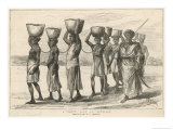 East Africa a Convoy of Slaves Zanzibar Giclee Print by W.a. Churchill
