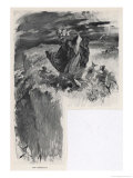 Traveller in Brittany is Assailed by Korriganes Giclee Print by Andre Castaigne