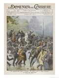 "Demonstration by ""Hunger Marchers"" is Broken up by London Police Giclee Print by Achille Beltrame"