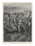Russian Convicts En Route to Siberia Giclee Print by Henry Sandham