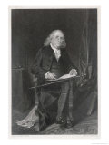 Benjamin Franklin American Scientist Philosopher and Statesman Giclee Print by Alonzo Chappel
