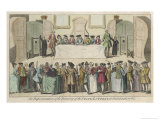 England Drawing of the State Lottery at the Guildhall London Giclee Print by Benjamin Cole