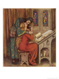 Abelard and Heloise French Scholar and Nun Embracing in the Scriptorium Giclee Print by Eleanor Fortescue Brickdale