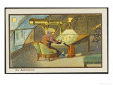 An Astronomer at Work Giclee Print by Jean Marc Cote