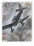 """Stuka"" Dive-Bombers of the Luftwaffe in Action Giclee Print by A.w. Diggelmann"