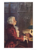 Wolfgang Amadeus Mozart Austrian Composer Reproduction proc&#233;d&#233; gicl&#233;e par L. Balestrieri