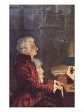 Wolfgang Amadeus Mozart Austrian Composer Wydruk giclee autor L. Balestrieri