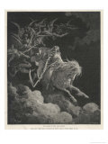 The Vision of Death on a Pale Horse Reproduction procédé giclée par Gustave Doré