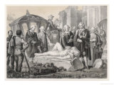 Gustaf III of Sweden Travels in Italy Admires Antiquities Giclee Print by C.a. Dahlstrom