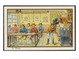 Teaching Machines in the Classroom Premium Giclee Print by Jean Marc Cote