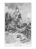 Italian Campaign Napoleon on the Bridge at Arcola Giclee Print by H. Chartier
