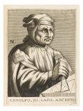 Arnolfo Di Cambio Italian Sculptor and Architect, Giclee Print