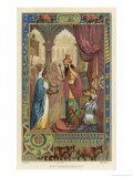 Solomon's Wisdom is Tested by Nicaule Queen of Sheba Giclee Print by Collin De Plancy