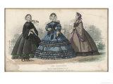 Black Velvet Mantle Green Silk Dress Giclee Print by Jules David