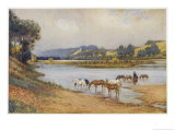 Hawkesbury River New South Wales, The Old Ford Giclee Print by Percy F.s. Spence
