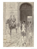 Napoleon in 1784 as a Cadet at the Military School at Paris Giclee Print by Andre Castaigne