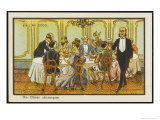 Chemical Dinner-Party, a Few Tablets for Each Guest Giclee Print by Jean Marc Cote