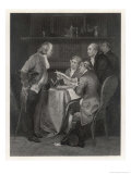 Drafting the Declaration of Independence, Franklin Jefferson Adams Livingston and Sherman Giclee Print by Alonzo Chappel