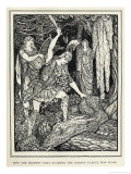 Jason Slays the Serpent Which Guarded the Golden Fleece Giclee Print by Henry Justice Ford