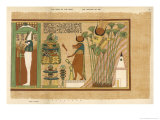Osiris-Seker Within a Shrine Adored by Ani and His Wife Plate Giclee Print by E.a. Wallis Budge