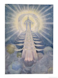 God and His Angels Enthroned on High in the Heavens Giclee Print by Beatrice Adams