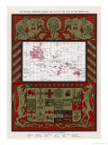 Map Showing the Extent of the British Empire in 1902, The Empire on Which the Sun Never Sets! Giclee Print by G. Amato