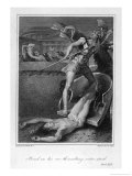 Achilles Drags Hector&#39;s Corpse Around the Walls of Troy Giclee Print by Thomas Stothard