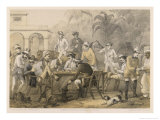 Group of Men Take Morning Coffee on a British Station Giclee Print by Captain G.f. Atkinson