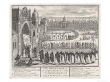 An Auto-Da-Fe at Goa India, The Procession of Clergy and Their Victims Giclee Print by C. Du Bosc