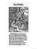 16th Century Glassworker at His Workbench Reproduction procédé giclée par Jos Amman