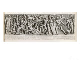 The Life and Death of Man, Allegorical Representation in the Form of an Ancient Roman Sculpture Giclee Print by Pietro Santi Bartoli