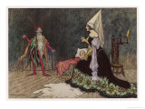 Rumpelstiltskin Visits the Baby He Hopes to Win Giclee Print by Warwick Goble