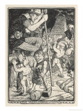 "Team of Dwarf Miners the ""Underground Workers"" in Action Giclee Print by Henry Justice Ford"