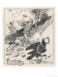 How the King's Son Saved the Raven from the Snake Giclee Print by Henry Justice Ford