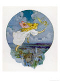 One Moonlight Night the Fairies Came Flying In Giclee Print by Harry G. Theaker