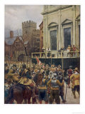 Charles I on the Scaffold at Whitehall Giclee Print by Ernest Crofts