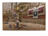 Gladiators in the Arena Giclee Print by Edmund Evans