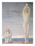 Adam and Eve Despair Learning That They are to be Expelled from Eden Giclee Print by F. Cayley