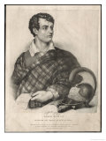 George Gordon Lord Byron English Poet as a Supporter of Greek Independence in 1826 Giclee Print by A. Friedel