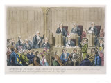 Courtroom Scene Giclee Print by Robert Cruickshank