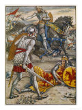 Sir Lancelot Prevents Sir Bors from Slaying King Arthur Giclee Print by Walter Crane
