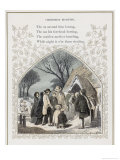 Country People Greet One Another Outside the Church Porch on Christmas Morning Giclee Print by Birket Foster