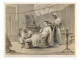 The Magistrate&#39;s Wife is Attended to by Her Servants, One Brushes Her Hair Giclee Print by Captain G.f. Atkinson