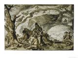 Witches Enjoy a Mountain-Top Orgy on Walpurgisnacht Giclee Print by Jakob De Gheyn