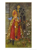 Saint Valentine Depicted Here as Boy Bishop Giclee Print by Eleanor Fortescue Brickdale