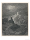 Traveller from New Zealand in Days to Come Contemplates the Ruins of London That Once Great City Reproduction giclée Premium par Gustave Doré