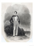 George Gordon Lord Byron English Poet in 1807 Premium Giclee Print by  Finden