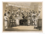 Dinner Party on an English Station Giclee Print by Captain G.f. Atkinson