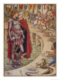 Sir Galahad is Introduced to the Round Table Giclee Print by Walter Crane
