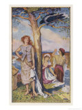 The Youngest of the Farmer's Three Daughters Agrees to Marry the Hoodie Crow Giclee Print by Henry Justice Ford